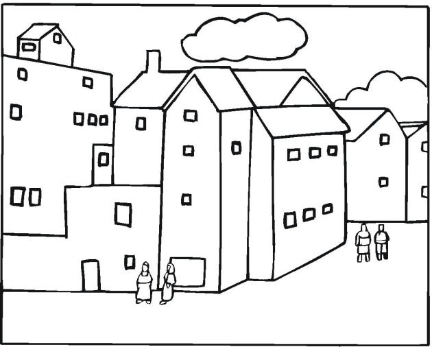 Free Apartment Coloring Pages
