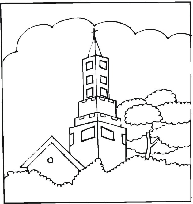 church building coloring pages - photo#19