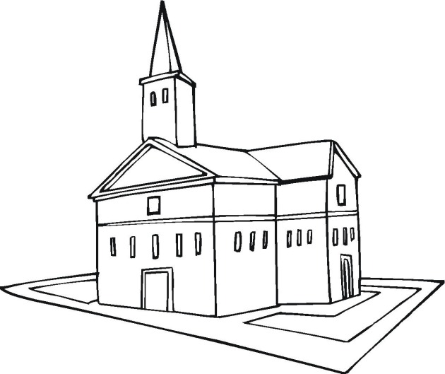 church building coloring pages - photo#8
