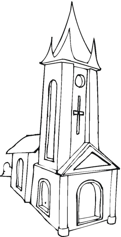 church building coloring pages - photo#10