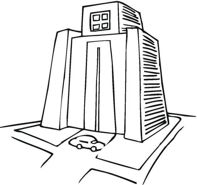 Free Buildings Coloring Pages Build A Coloring Page