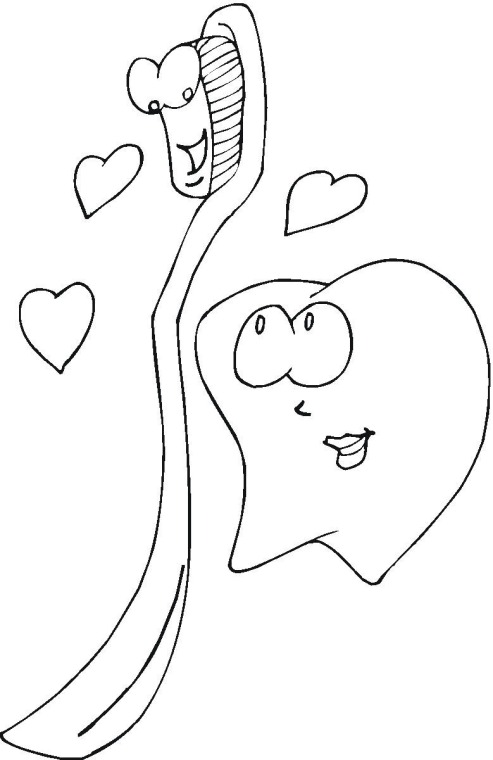 Toothbrush Coloring Page Click to Print Image Only Without Ads