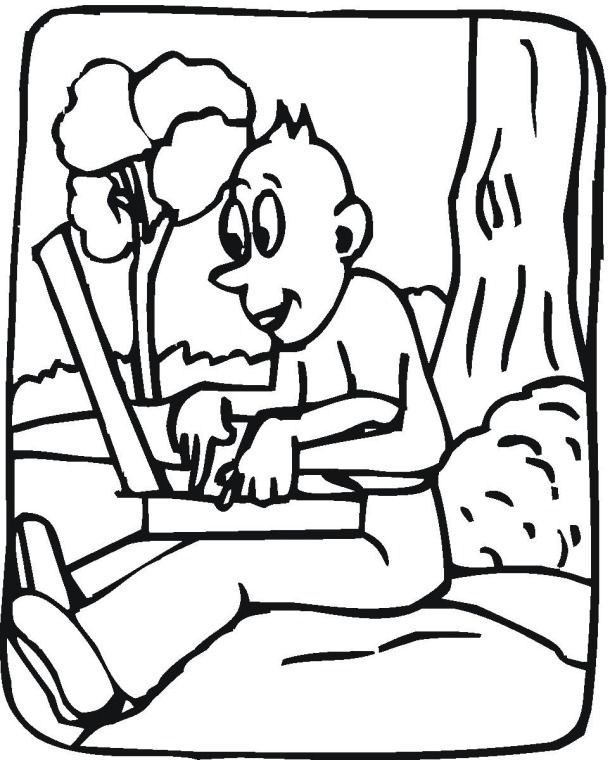 funny coloring pages boy - photo#20