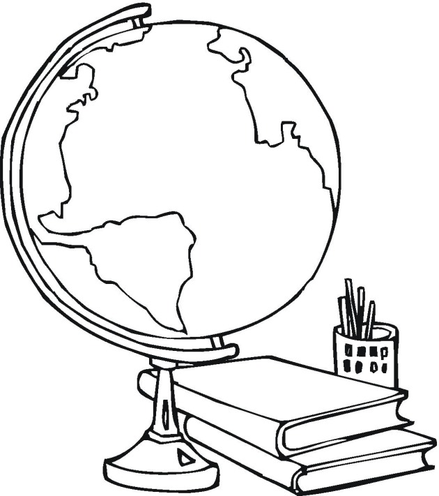 Colouring Pages Educational Free : Free school and education coloring pages