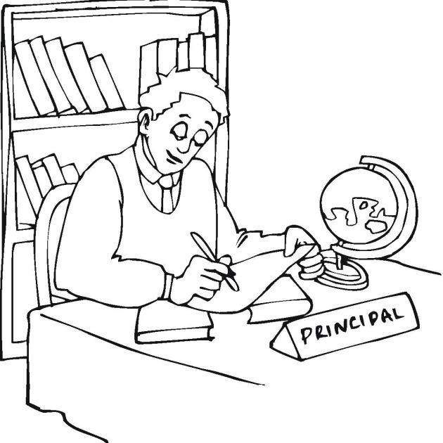 Principal Coloring Pages Principal Coloring Page