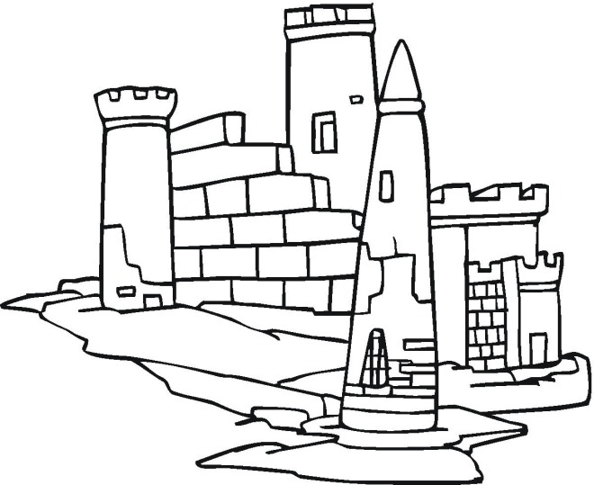 free coloring pages of castles - photo#33
