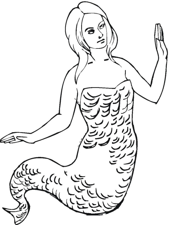 queen mermaid coloring pages - photo#36