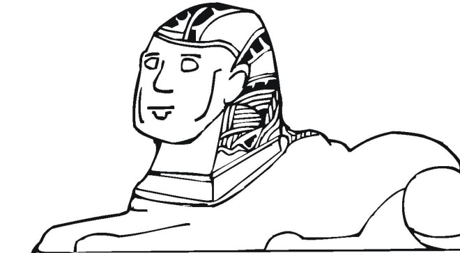 Coloring Pages Of Sphinx Of Giza Coloring Pages Sphinx Coloring Page