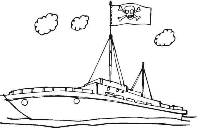pirate ship coloring page pirates with a cannon and a