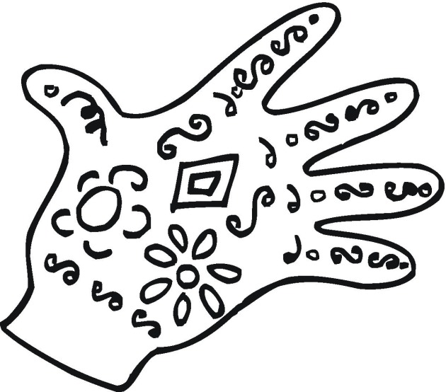 glove coloring pages - photo#34