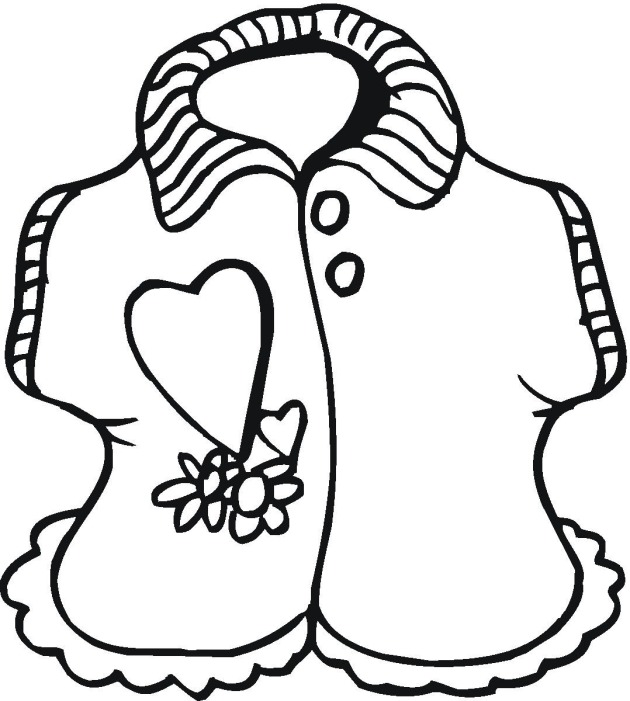 shirt coloring picture blouse colouring pages