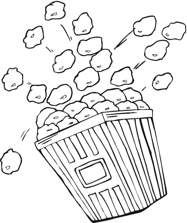 popcorn printable coloring pages - photo#13