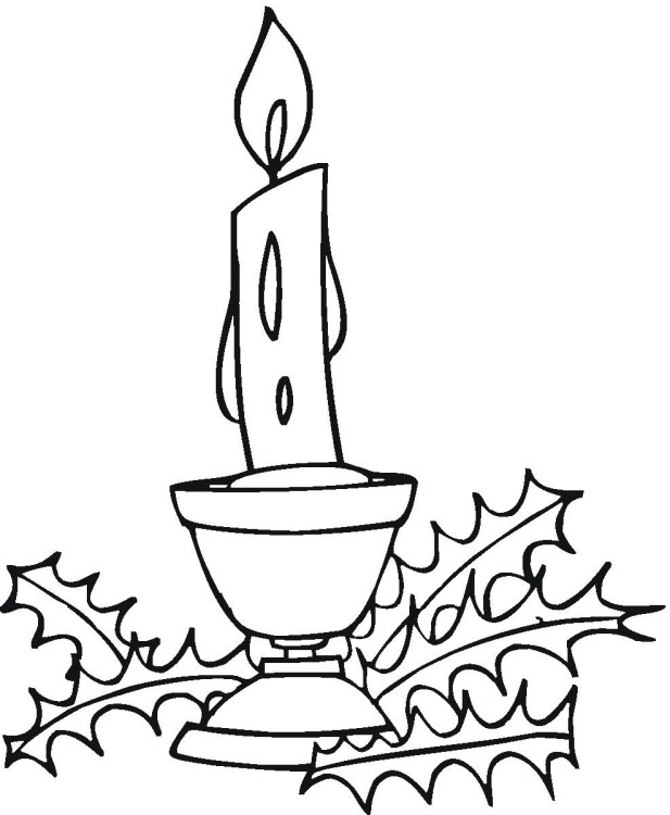 Free coloring pages of cupcake with candle