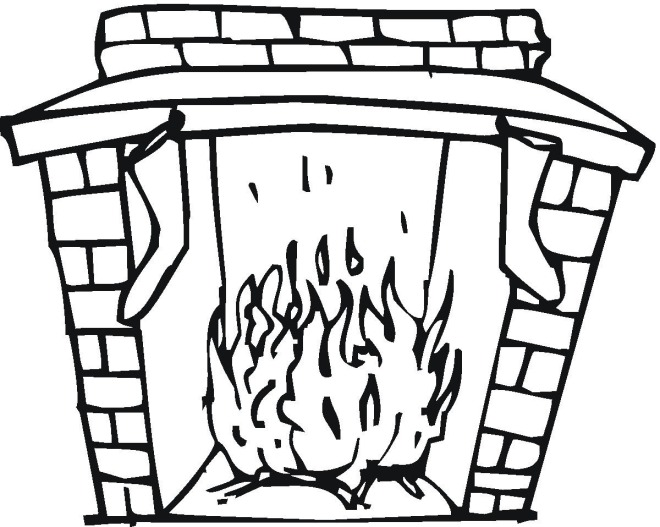 fireplaces coloring pages - photo#5