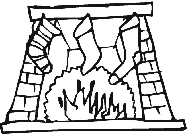 fireplaces coloring pages - photo#14
