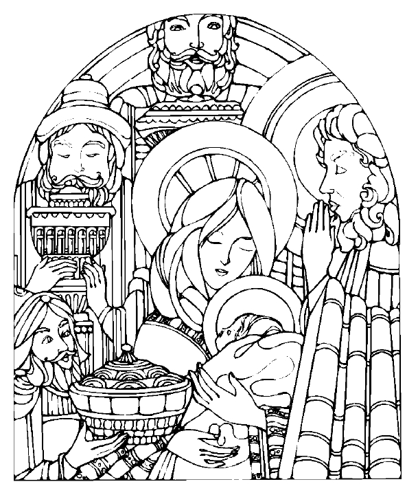 free christmas nativity coloring pages - photo#17