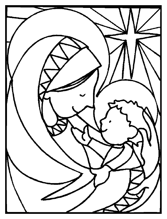 christmas nativity coloring pages free - photo#40