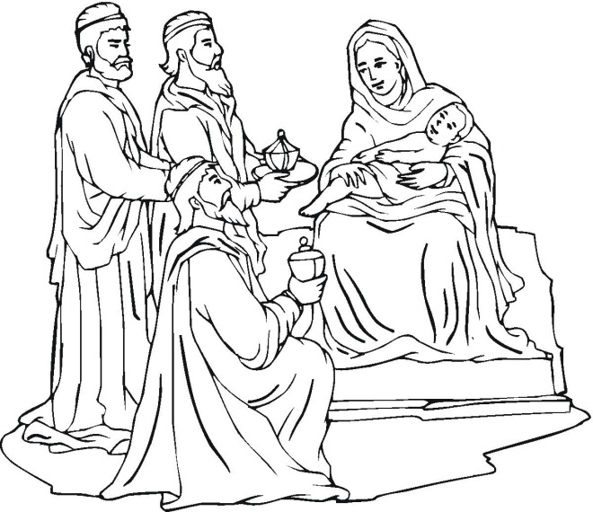 Coloring Pages For Christmas Nativity : Free Christmas Coloring Pages