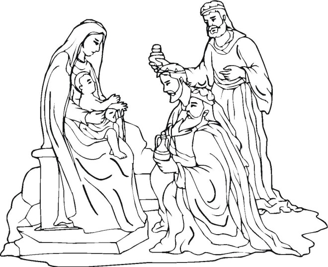 free christmas nativity coloring pages - photo#20