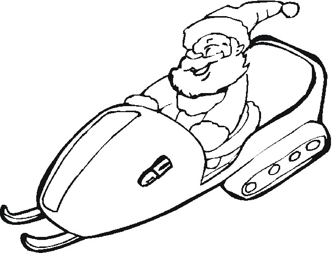 snowmobile coloring pages - photo#23