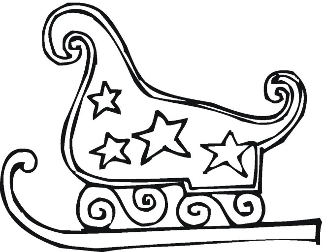 christmas sleigh coloring pages - photo#3
