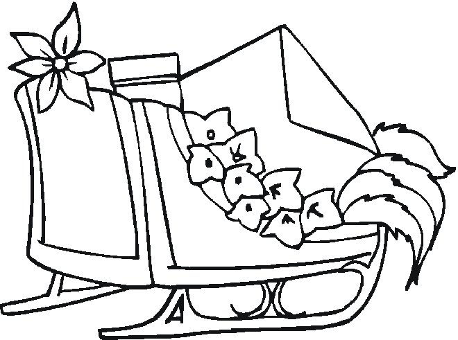 christmas sleigh coloring pages - photo#25