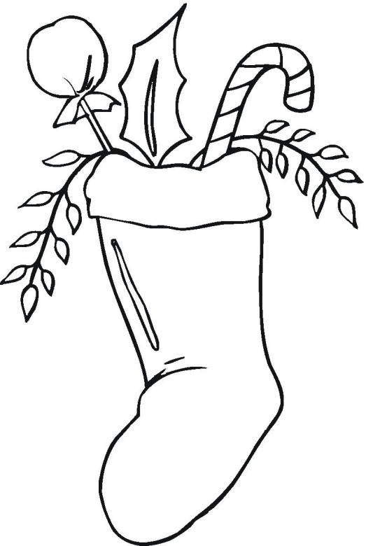christmas stocking coloring sheets coloring pages