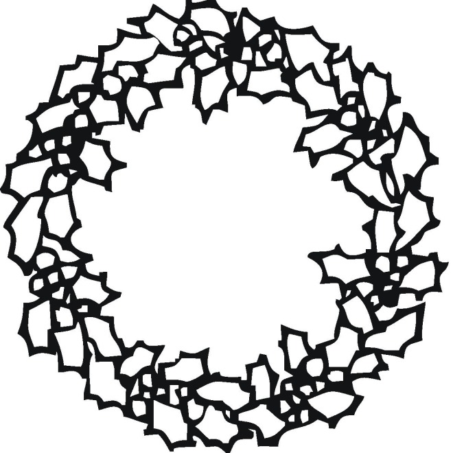 christmas coloring pages wreathes - photo#27
