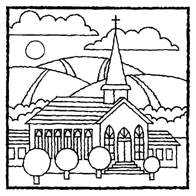 church coloring pages - photo#28