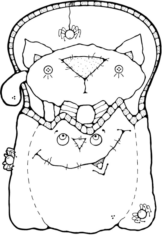 Free Trick Or Treat Bag Coloring Pages
