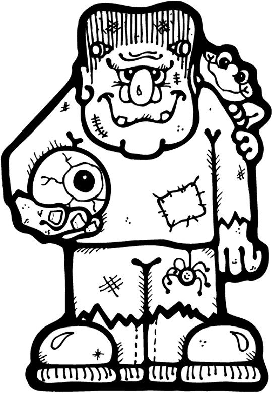 Frankenstein Coloring Pages Prepossessing Free Halloween Coloring Pages Inspiration
