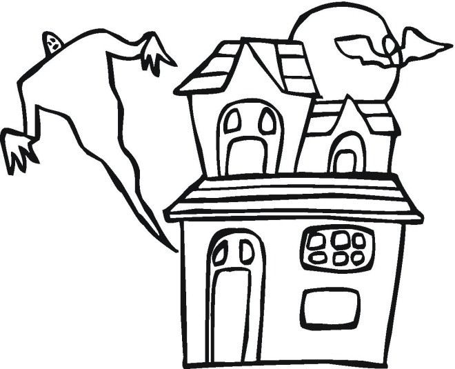 Coloring Fun Halloween Haunted House Pages 98: Free Halloween Coloring Pages