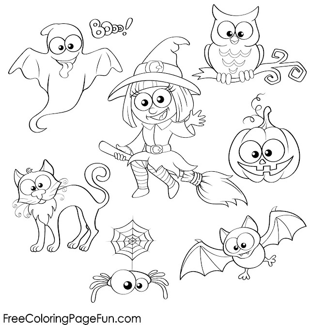 Free Halloween Coloring Pages Halloween Collage