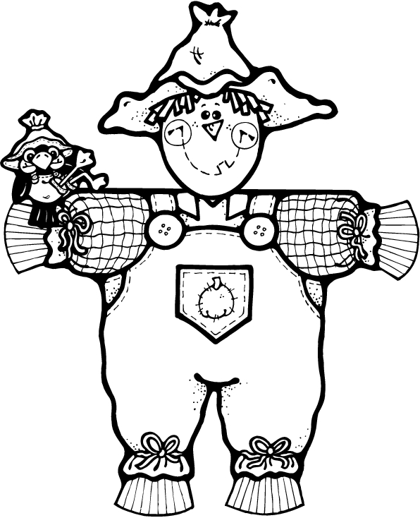free scarecrow coloring pages - free halloween coloring pages