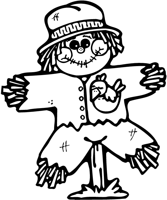 Free halloween coloring pages for Printable scarecrow coloring pages