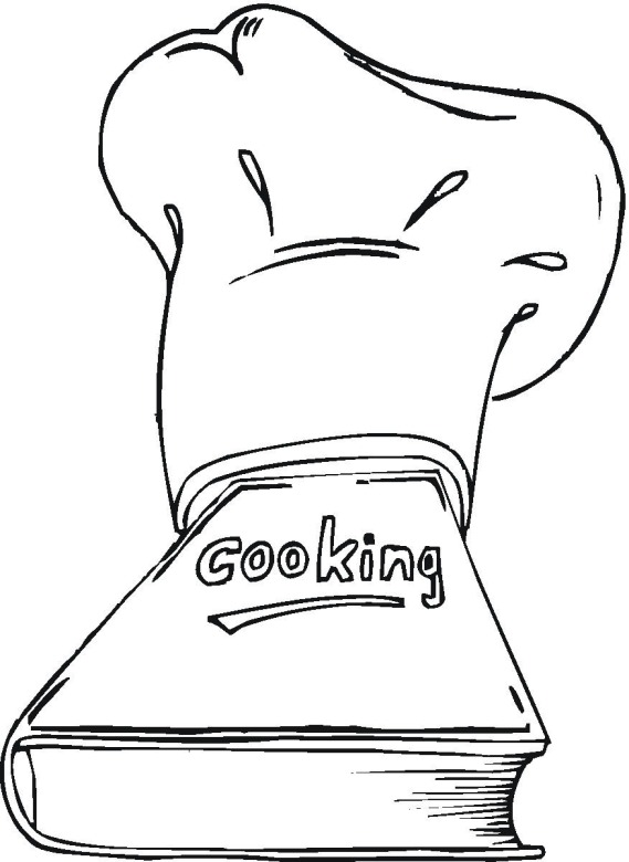 cookbook coloring pages - photo#1