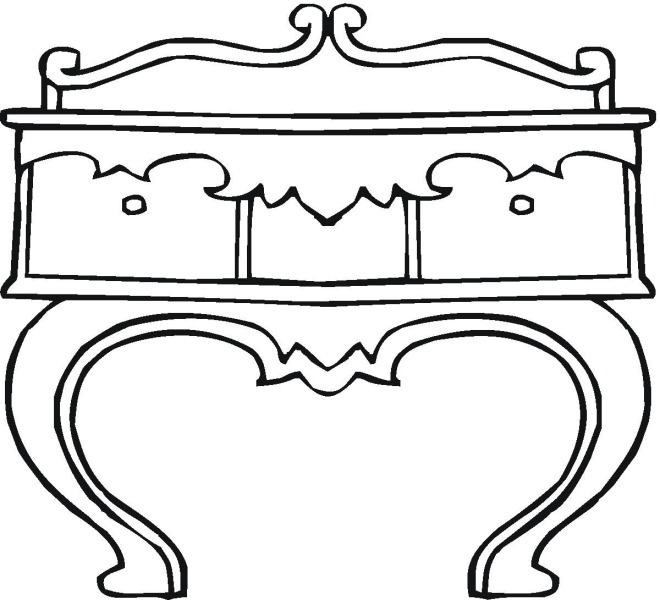 Dresser Coloring Page Click To Print Image Only Without Ads