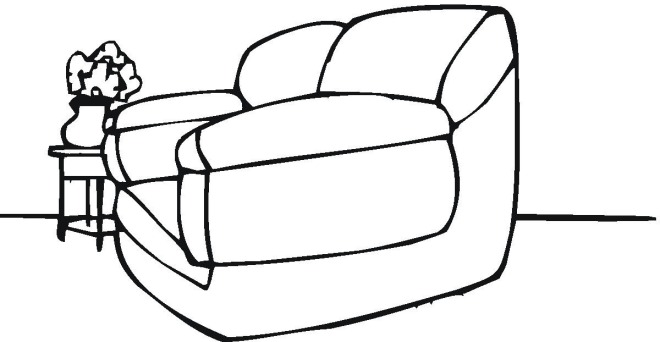 coloring pages couch - photo #21