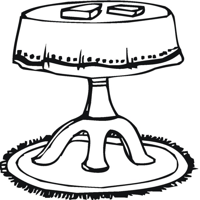 tables coloring pages - photo #23