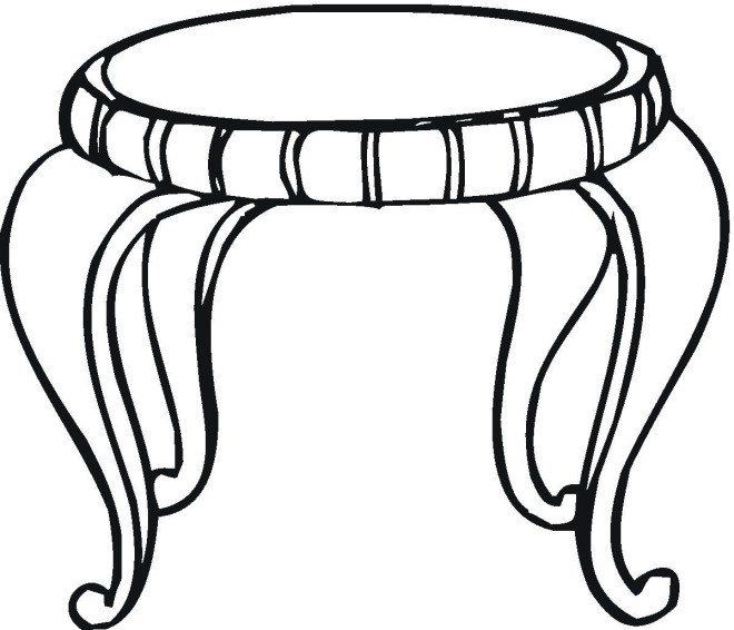 tables coloring pages - photo #13