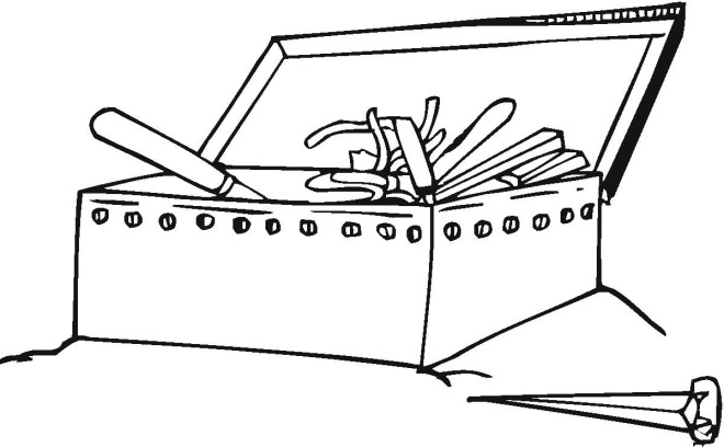 Tool Box Coloring Page Toolbox Coloring Page