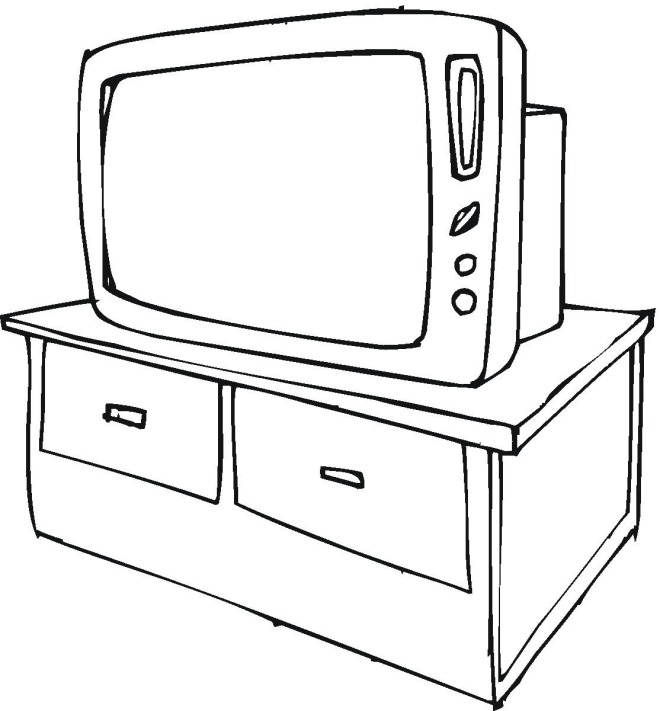 tv coloring page free household coloring pages