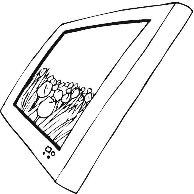 Free Household Coloring Pages Television Coloring Page