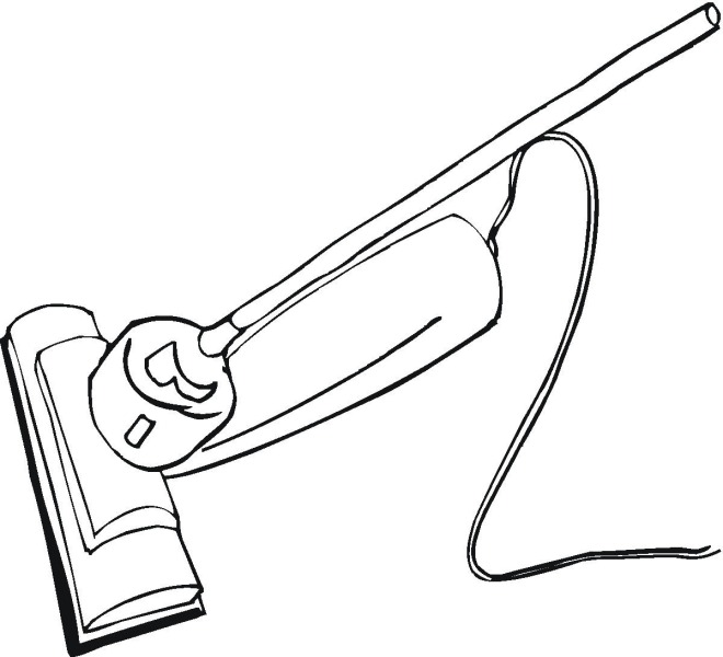 Free Household Coloring Pages Vacuum Coloring Pages