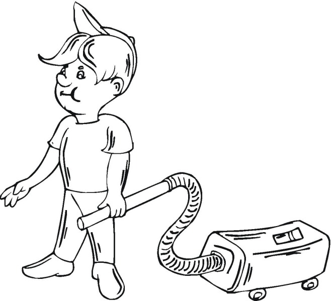 Vacuum Coloring Pages Vacuum Coloring Pages