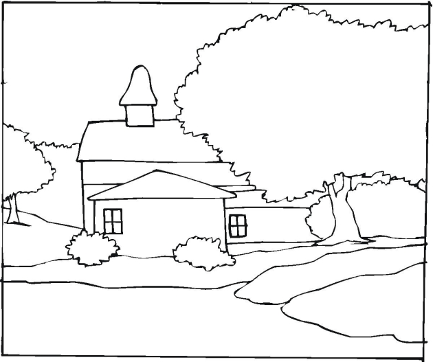 Free Landscape Coloring Pages