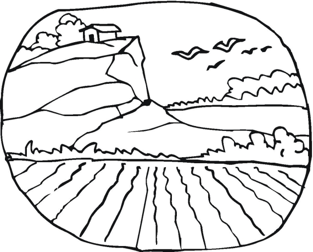 Free Coloring Pages Of Landscapes For Children