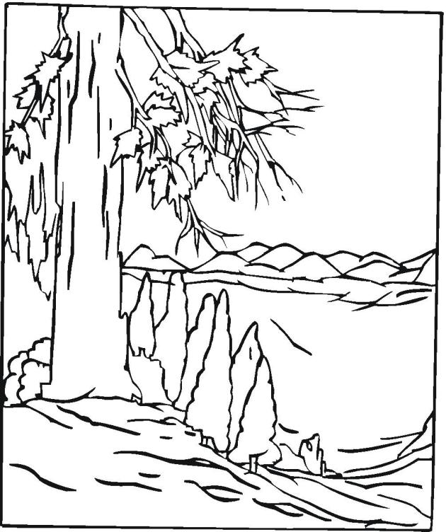 Realistic Landscape Coloring Pages Coloring Pages