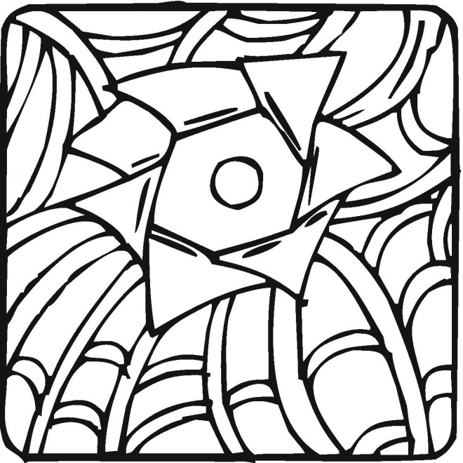 Geometric coloring sheets coloring pages for Geometric coloring pages online