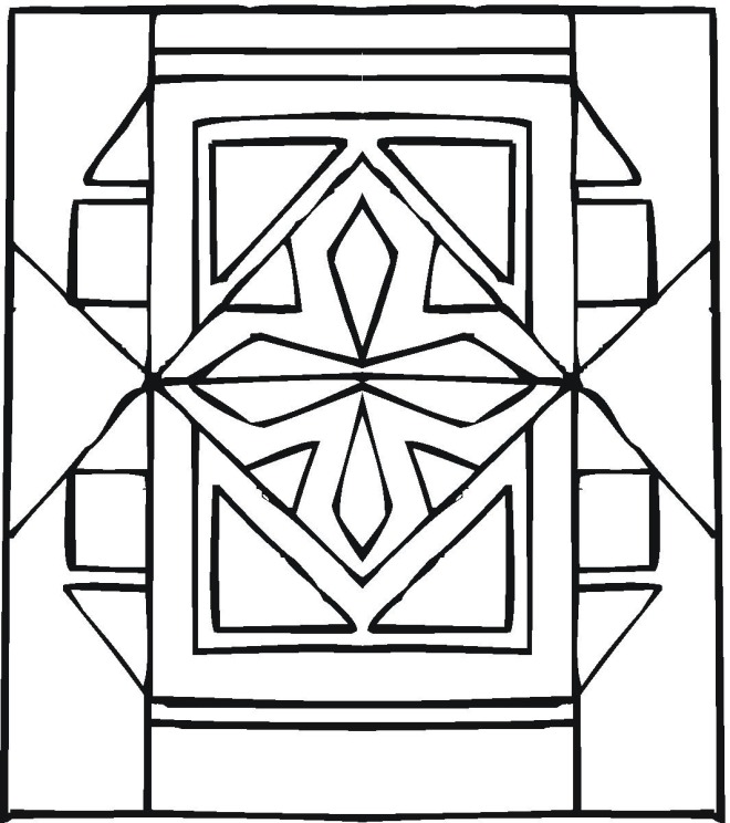 new geometric coloring pages - photo#8